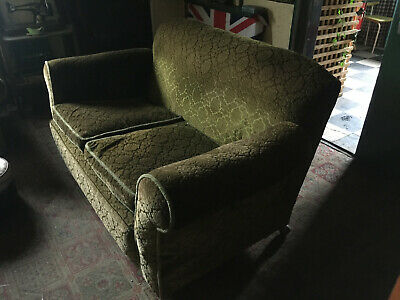 £10 • Buy Vintage 1950's Sofa Chairs Settee 3 Piece Suite