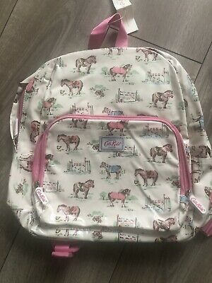 £19.99 • Buy Cath Kidston Kids Pony Pink Horse Cream Oilcloth Backpack Rucksack New