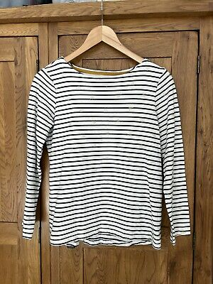 £0.99 • Buy Joules Women's White Black Striped Bee Print Jersey Harbour Top, 10