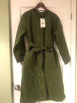 AU298.97 • Buy BNWT Barbour Alexa Chung Martha Long Quilted Coat Jacket Green Size 10 RRP £249