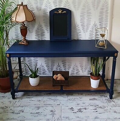 £12.70 • Buy Upcycled Table With Wicker Bottom