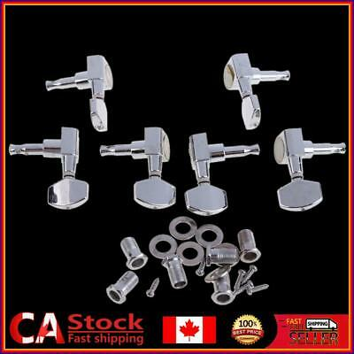 $ CDN13.44 • Buy 6 Chrome Guitar String Tuning Pegs Tuners Machine Heads Acoustic Electric