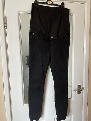 £2 • Buy River Island Maternity Molly Overbump Skinny Jeans 14