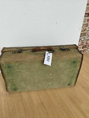 £30 • Buy Vintage Suitcase Canvas With Leather 40's Military Heavy BC Blackwell -(8292)