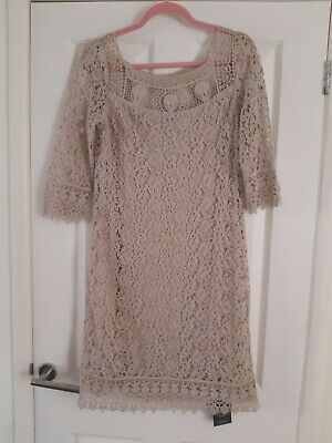 £50 • Buy Kaliko Ladies Nude Lace Lined Dress Size 10