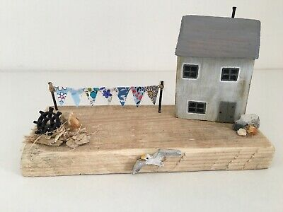 £23 • Buy Cosy Cottage - Rustic Seaside Decor Houses Cottages Driftwood Handmade Recycled
