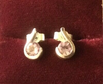 £5 • Buy Sterling Silver Amethyst Earrings, Excellent Condition