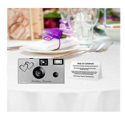 £151.44 • Buy 25 Silver Foil Double Hearts Disposable Cameras-wedding/anniversary (F50146)