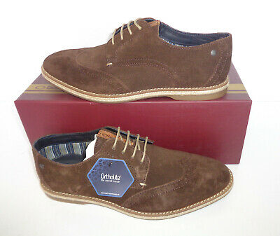 £24.98 • Buy Base London Mens Brown Suede Leather Brogues Shoes New RRP £75 UK Sizes 5 6 7 8
