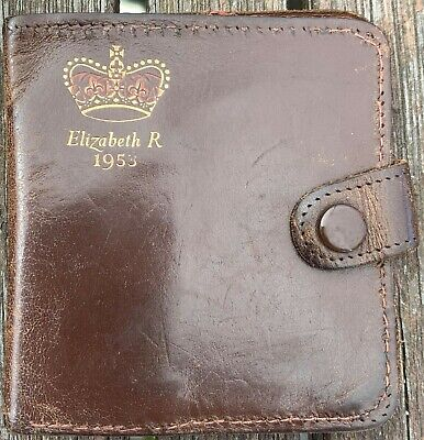 £1.99 • Buy A Leather Wallet From 1953 With Elizabeth R Crown