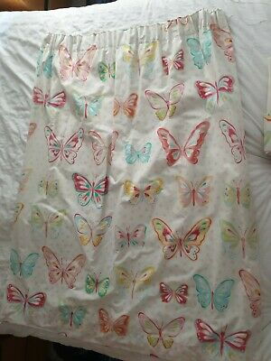 """£3.40 • Buy NEXT BUTTERFLY BLACKOUT CURTAINS 117 X 137cm 46""""x 54"""" Pencil Pleat Girls Room"""
