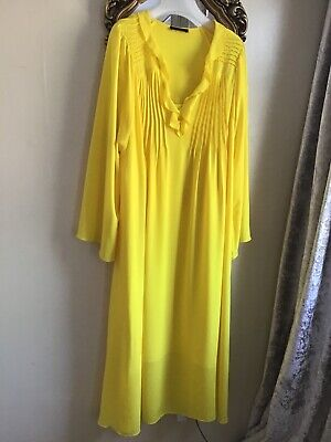 £9.99 • Buy Autograph @Marks And Spencer Midaxi Dress Size 18 Yellow