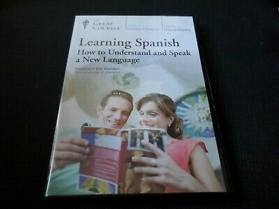£24.99 • Buy Great Courses - Learning Spanish How To Understand And Speak A New Language DVD
