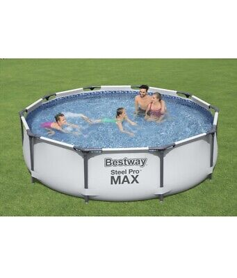£119.99 • Buy Bestway 10FT 305x76cm Steel Pro-Round Swimming Pool FREE DELIVERY