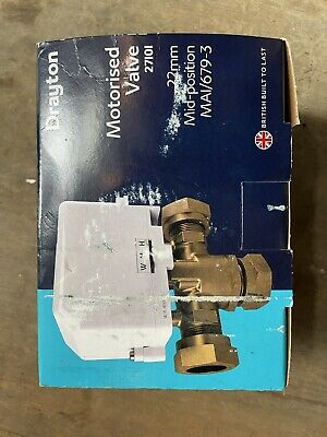 £55 • Buy Drayton 22mm 3 Port Mid Position Valve Ma1/679-3 Removable Actuator27101