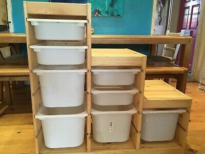 £16 • Buy Ikea Trofast Pine Storage System With White Drawers/boxes
