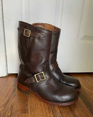 $175 • Buy FRYE Horween Leather Engineer Handmade Artisanal Boots • Brown 9.5 • Made In USA