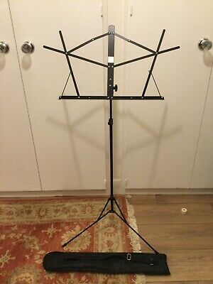 £5 • Buy Metal Adjustable Sheet Music Stand Holder Folding Foldable WITH CARRY CASE BAG!