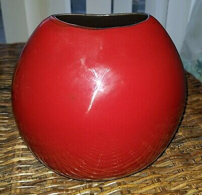 £45 • Buy POOLE Pottery Large Purse Vase Red FREE P&P