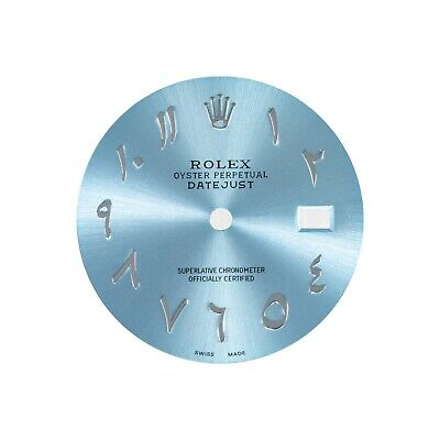 $ CDN374.51 • Buy Rolex Datejust Dial Ice Blue With Arabian Numerals