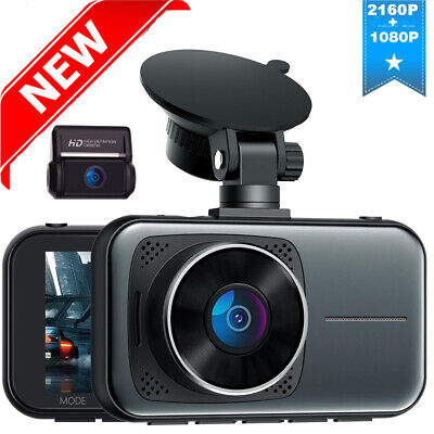 AU124.73 • Buy TOGUARD 4K Front And Rear Dash Cam With WiFi  Dashboard Night Vision Car DVR