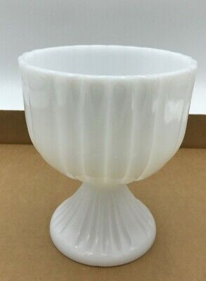 $17.95 • Buy Milk Glass Candy Dish Fluted Design