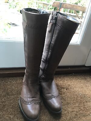 £5 • Buy Marco Tozzi Brown Leather Boots Size 41
