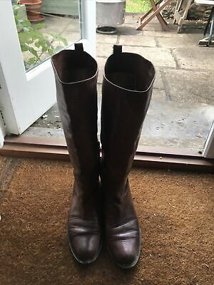 £5 • Buy Brown Leather Boots Size 41