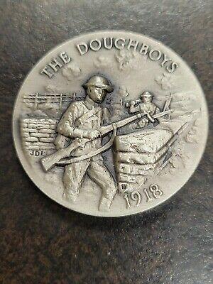 $52.95 • Buy STERLING SILVER The Doughboys 1918 Military Round Coin Commemorative