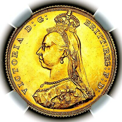 £820 • Buy 1887 Queen Victoria Great Britain London Mint Gold Sovereign Coin NGC MS64+