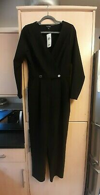 £10 • Buy NEW BNWT Stunning MISS SELFRIDGE Black Jump Suit CATSUIT All In One Sz 12