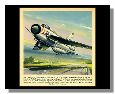 £9 • Buy RAF English Electric Lightning Fighter Jet Framed Picture T E North Free P&p UK