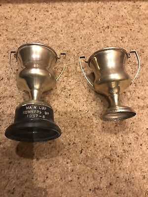 £5 • Buy Two Vintage EPNS Trophy's One On A Bakelite Base  -approx. 14cm And 10cm High