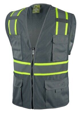 £8.68 • Buy Grey Two Tones Safety Vest ,With Multi-Pocket Tool