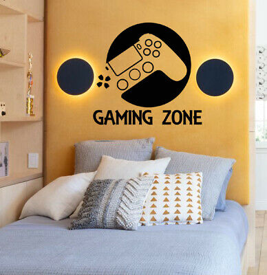 £7.50 • Buy Gaming Zone Controller Wall Sticker Kids Bedroom Decal  Decore Ps/xbox(GM DOT)