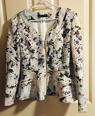 AU22 • Buy Forever New Floral Excellent Quality NWOT Peplum Jacket FREE Size Best Fit 10-12