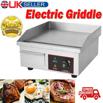 £86.98 • Buy Commercial Electric Griddle Countertop Hotplate BBQ Grill Fryer Bacon Stainless