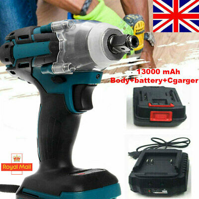 £40.99 • Buy Cordless Impact Wrench 1/2  Brushless Driver Torque Replace & Charger + Battery