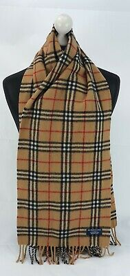 $23.63 • Buy Burberry Scarf 100% Lambswool For Men And Women Made In England Beige W