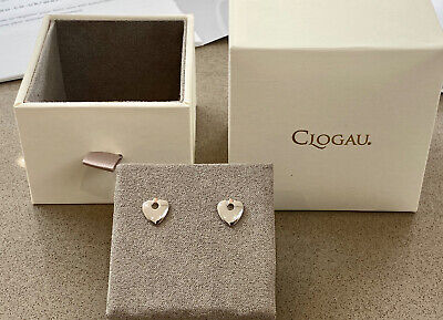 £65.50 • Buy BRAND New Clogau Earrings CARIAD Heart ❤️ Sterling Silver Welsh Gold Rose Gold