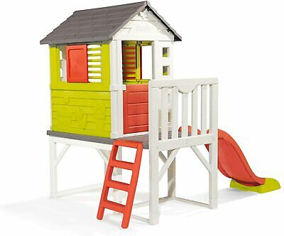 £455.92 • Buy Smoby Kids Playhouse On Stilts With Slide   Strong And Durable Wendy House, Suit