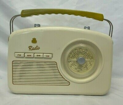 £9.99 • Buy GPO Retro Style Portable 4 Band FM Radio With Retro Dial Face - (NCF)