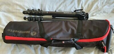 £375 • Buy Manfrotto MT057C4-G 057 4 Section Carbon Fibre Geared Tripod & Padded Bag
