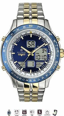 £69.95 • Buy Accurist Mens Skymaster Stainless Steel Chronograph Watch 7093 New With Box