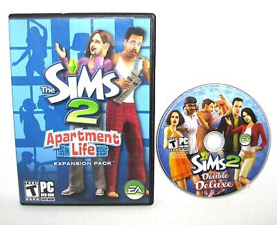 £21.74 • Buy Lot Of 2 The Sims 2 Apartment Life - Expansion Pack & Double Deluxe PC DVD-ROM