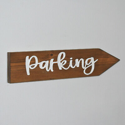 £18 • Buy Engraved Wooden Wedding Arrow Sign Personalised Directional
