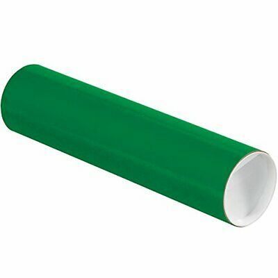$91.15 • Buy Aviditi Green Mailing Tubes With Caps 3 Inch X 12 Inch Pack Of 24 For Shippin...