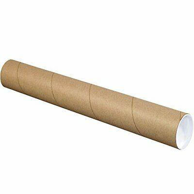 $98.38 • Buy BOX USA BP3042K Mailing Tubes With Caps 3  X 42  Kraft Pack Of 24