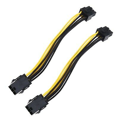£5.49 • Buy 6-pin To 8-pin PCI Express Power Converter Cable 18 Cm For GPU Video Card PCIE