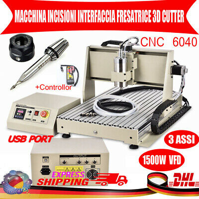$979 • Buy USB 3 AXIS CNC 6040Z Router Engraver Drill Milling Machine 1.5KW VFD +Controller